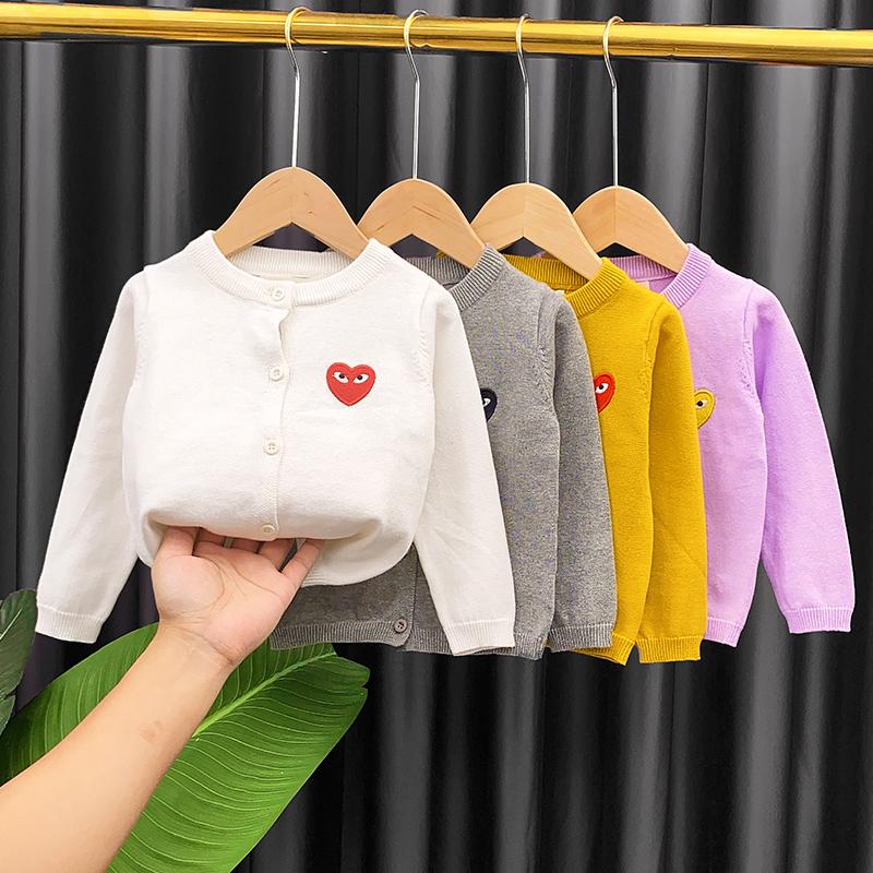 女童春秋装毛衣外套婴儿童薄款针织开衫小童女宝宝洋气2021新款潮