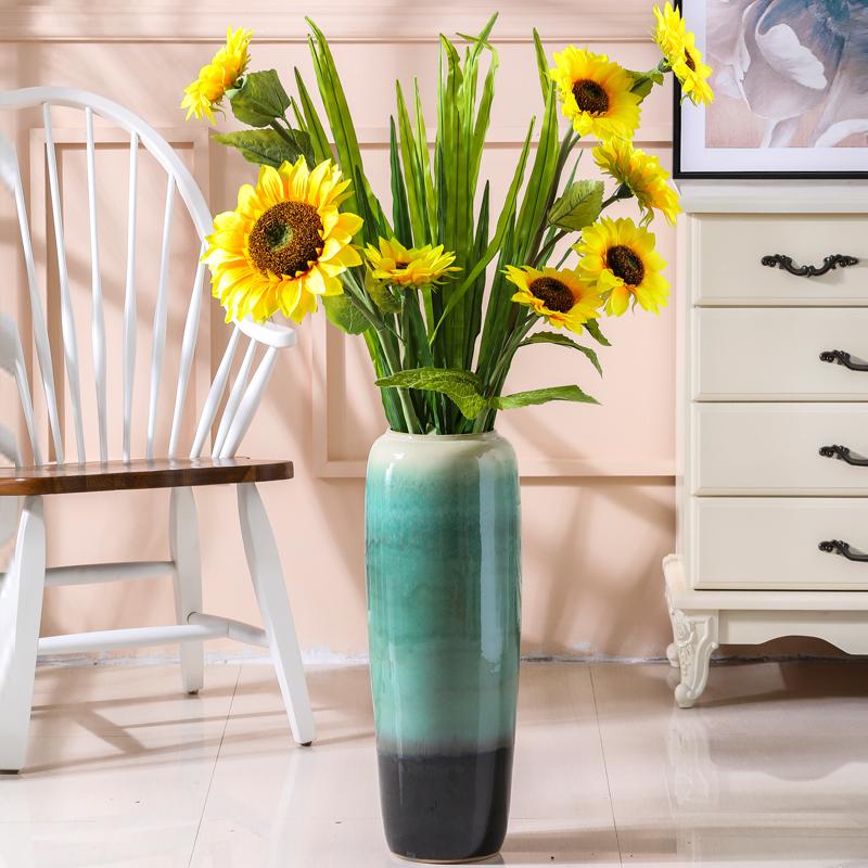 欧式陶瓷落地高大花瓶简约60cm花盆