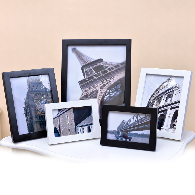 Quanyue solid wood wall hanging photo frame setting table creative 7-inch picture frame 5610 A4 16 20 inch IKEA photo shelf