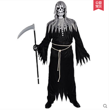 Cospaly Adult Costume Costume Costume Dance Party horror death angel zombie God of death clothes ghost clothes