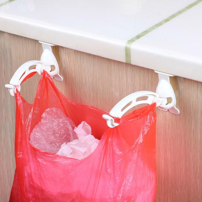 Японский кухонный шкаф для мусора без знак дверь Задний мешок для мешков с крючком Пластиковая вешалка для мусора