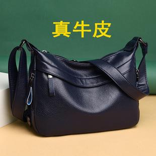 中年大包包2020新款老年单肩斜挎包女士背包大容量妈妈婆婆软皮包图片