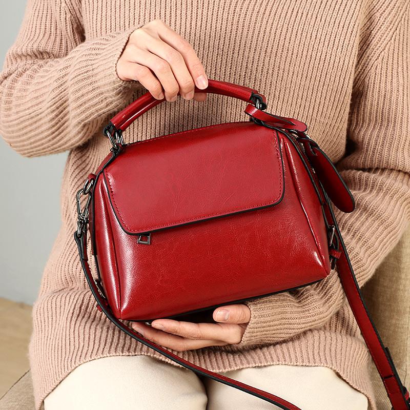 包包女包新款2019春款時尚高級感洋氣質感上新真皮手提斜挎包小包