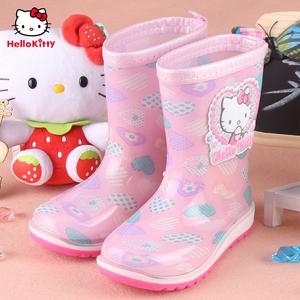 凯蒂猫女童防滑可爱中大童女水靴