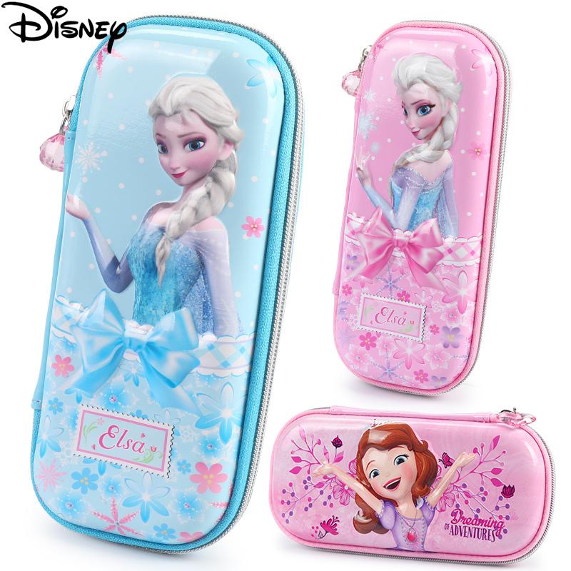 迪士尼儿童笔袋女童文具盒小学生铅笔盒女孩公主铅笔袋可爱文具袋