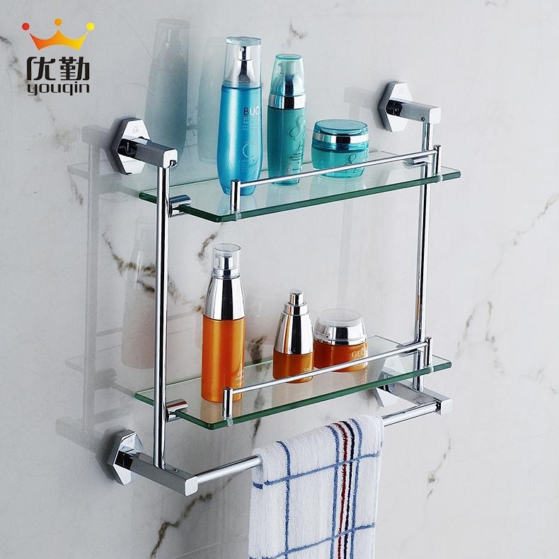 Отлично посещаемость ванная комната все медь ванная комната закалённое стекло ванная комната двойной стеллажи с волосами полотенце поляк 1200