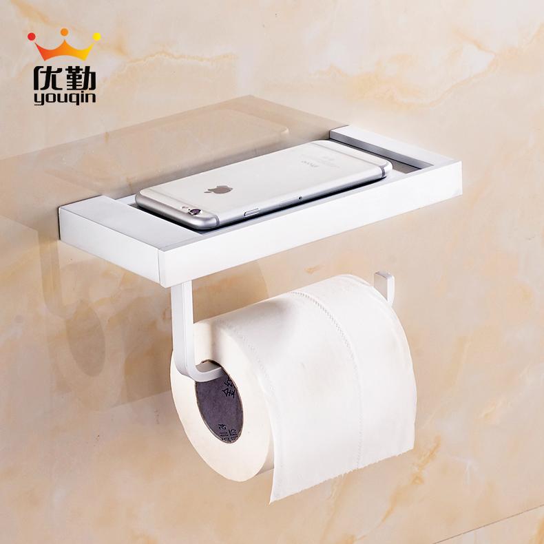 優勤衛浴 紙巾架 衛生間紙巾盒廁所手機架紙巾盒卷紙架 可放手機