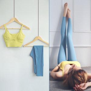 网红瑜伽服运动套装夏女薄款气质仙气性感时尚好看的健身房跑步服