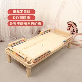 幼儿园午睡床加厚单人木板床午休床滚塑料折叠叠床放简易床儿童床图片