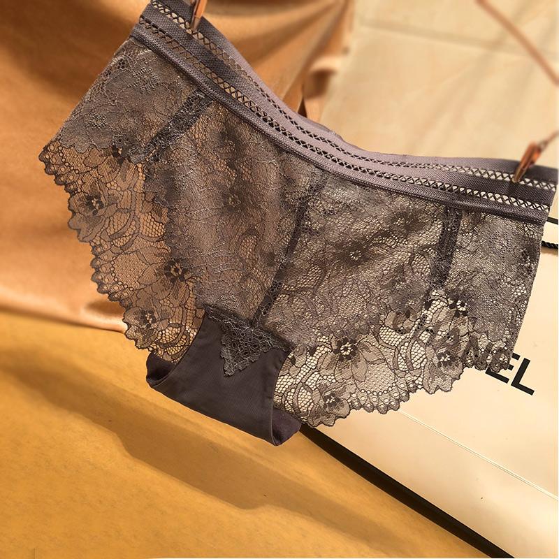 蕾丝性感中腰无痕诱惑女士三角裤满26.00元可用7.1元优惠券