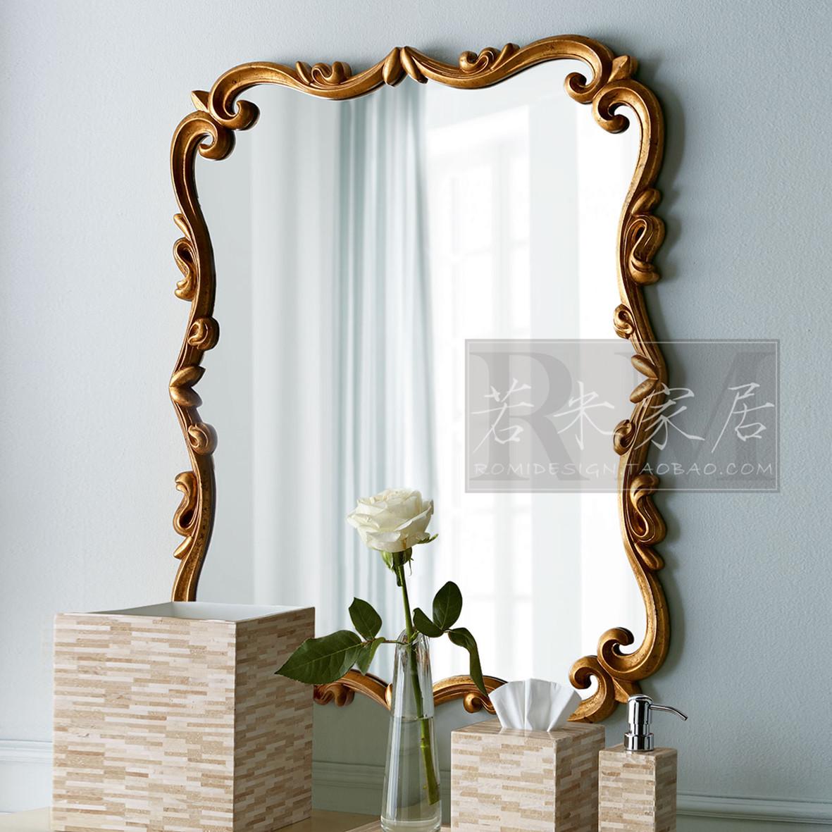 103*77/82*61 вертикальный для поперечный косметическое зеркало ванная комната ванная комната зеркало тайвань золото простой американский континентальный декоративный зеркало