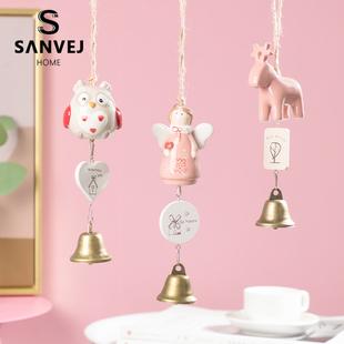 风铃挂饰创意女生小清新森系陶瓷日式铃铛挂件阳台门卧室铜铃礼物