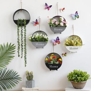 墙壁挂件壁挂花盆墙上创意家居北欧房间卧室内餐厅墙面装饰品植物