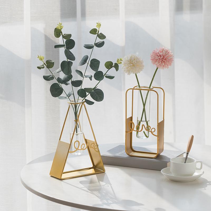 北欧ins风创意简约水培试管小花瓶摆件客厅干花插花花器餐桌装饰