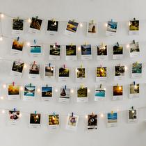 相片墙照片墙装饰麻绳夹子宿舍装饰挂饰ins少女房间创意免打孔