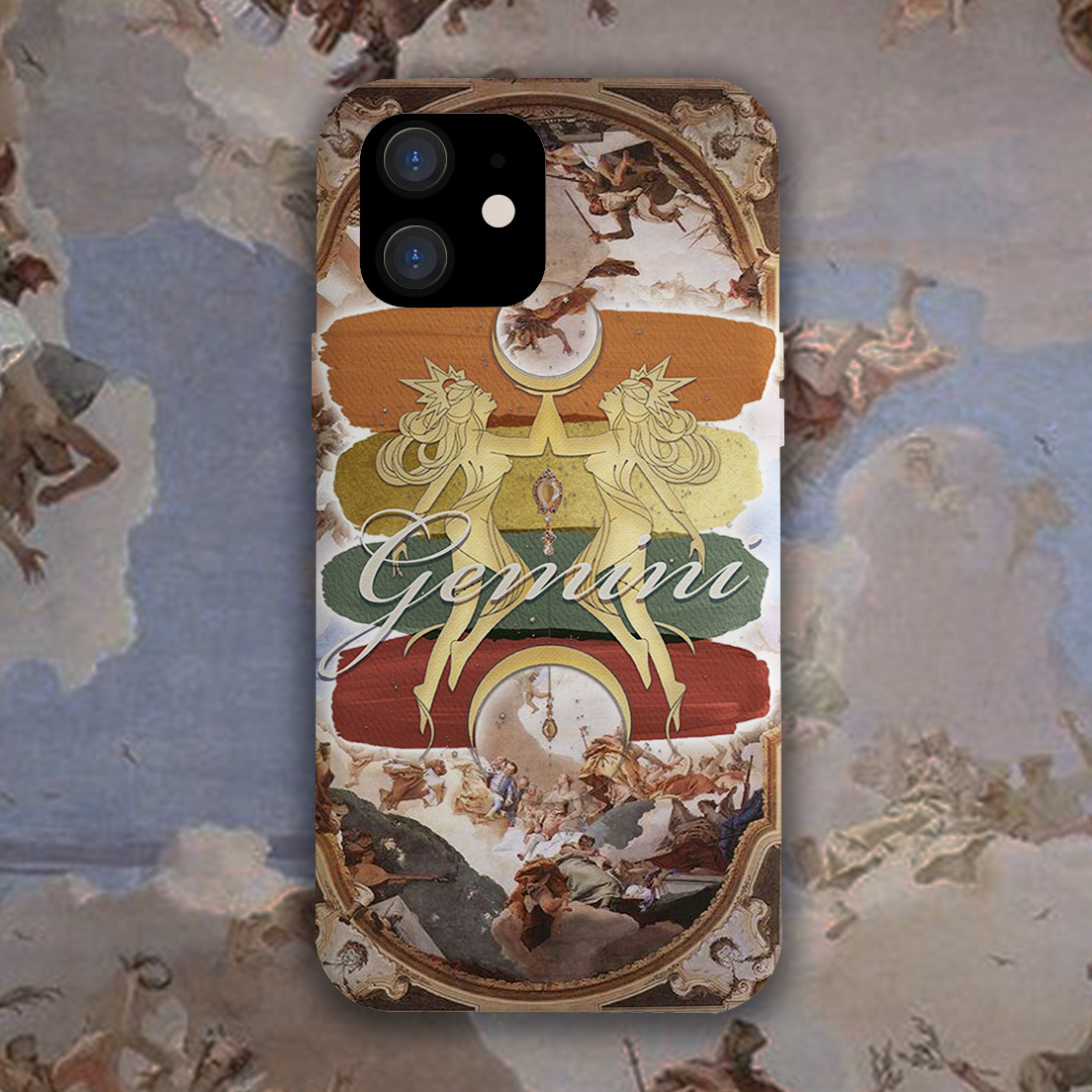 To Rita Lolita, Gemini vintage classic oil painting, original Victorian style, Japanese mobile phone shell