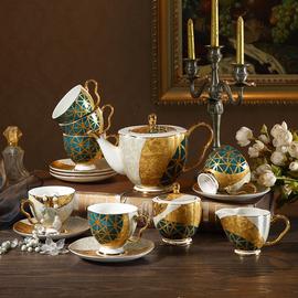美道小奢华欧式骨瓷咖啡杯具英式客厅家用下午茶茶具套装礼盒装图片
