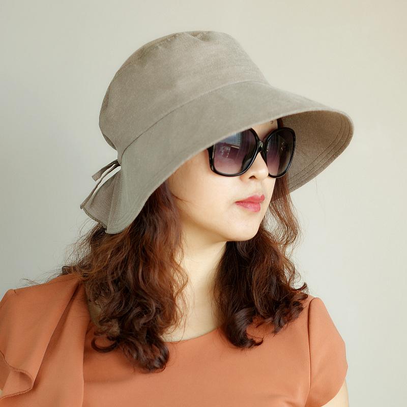 帽子女夏秋遮阳帽日式沙滩帽防晒大檐凉帽遮脸透气布可折出游百搭