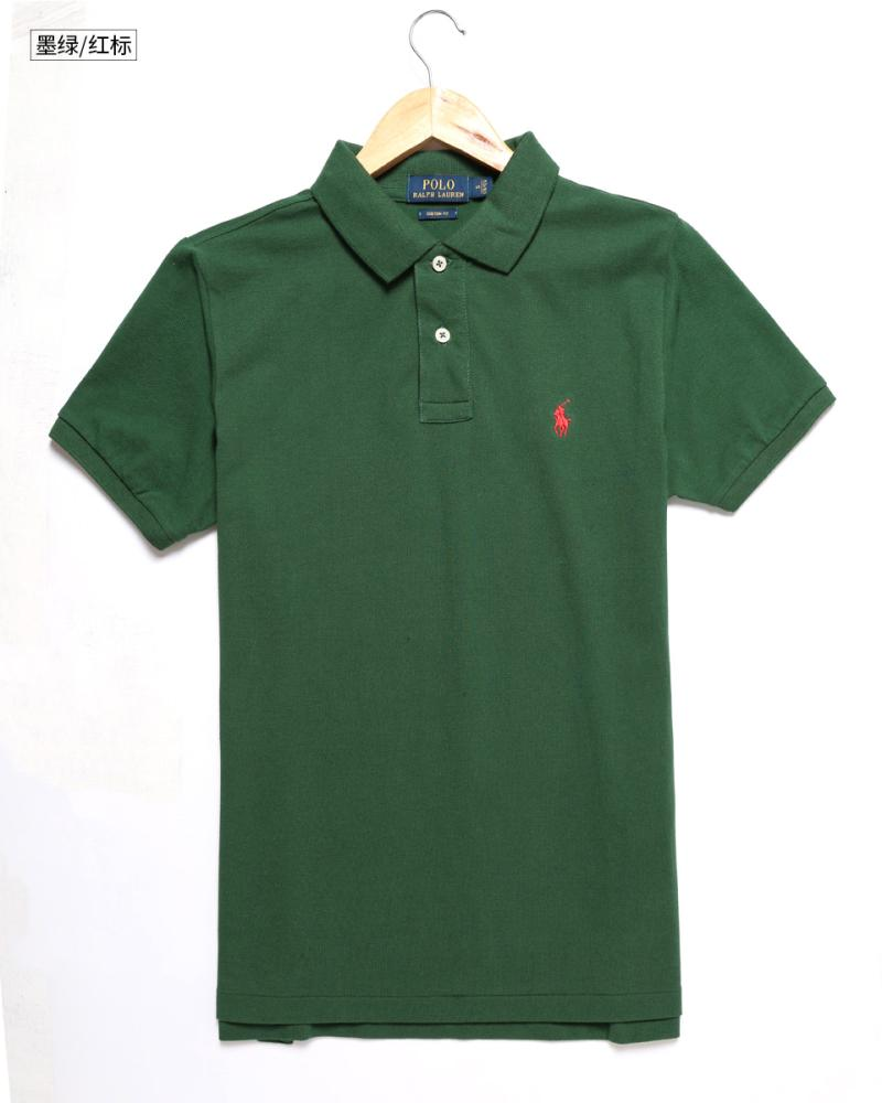 Spring and summer new European and American brand cotton polo shirt foreign trade original large mens Lapel short sleeve T-shirt