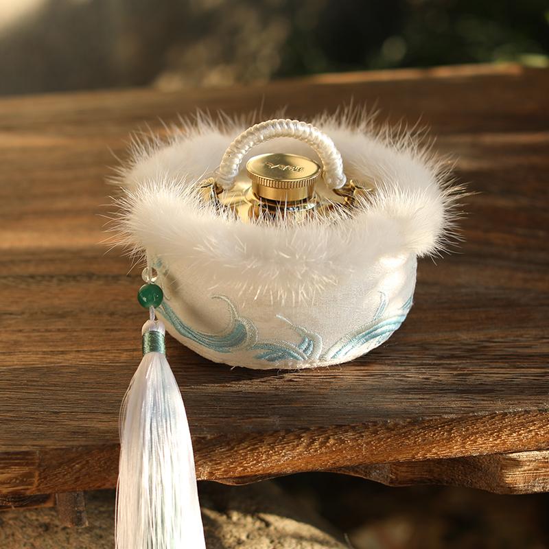 锦夫人汤婆子纯铜热水袋注水暖手宝烫水捂子古风铜暖壶云鹤汤婆婆