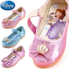 女童皮鞋迪士尼童鞋春秋新小孩公主鞋儿童时装鞋可爱休闲鞋单鞋