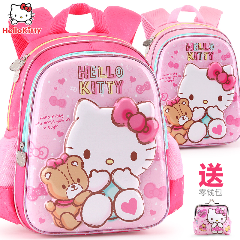 儿童书包幼儿园女童hellokitty3-6岁小孩学前班大班宝宝双肩背包5