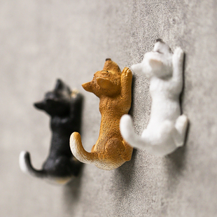 包邮 出口日本汪星人强力磁性铁门后挂钥匙 4个 小狗冰箱贴挂钩