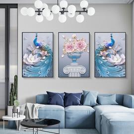 北欧客厅墙面现代简约三联画沙发背景玄关壁画餐厅挂画壁画装饰画图片