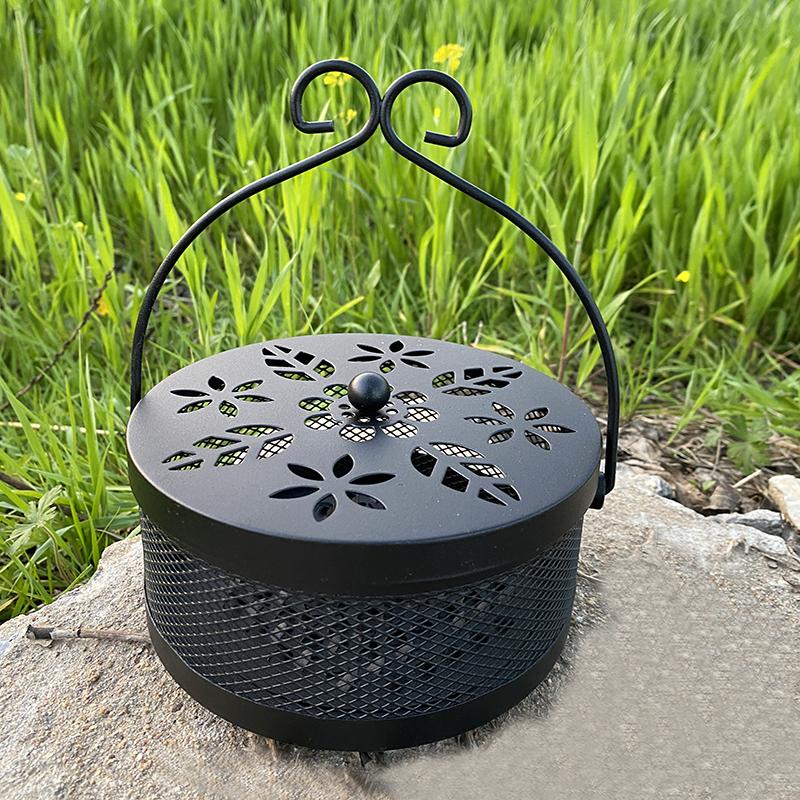 仿古大号蚊香炉蚊香架蚊香盘熏香托盘安全家用室内防火带盖蚊香盒