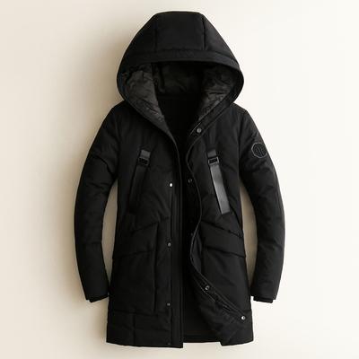 17831 P530 冬季90%白鸭绒中长款连帽羽绒服(48-60)