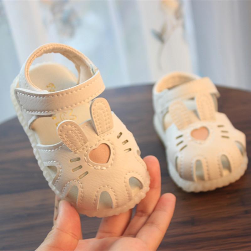 爱心夏季0-1-2岁女宝宝女童3凉鞋