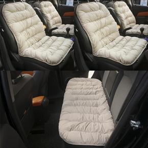 汽车坐垫靠垫一体秋冬季短毛绒保暖加厚防滑椅子单片座垫三件套
