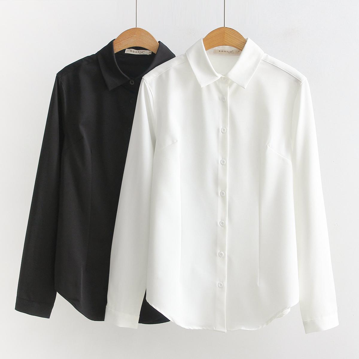 加厚不透气质长袖女方领韩版白衬衫热销121件限时2件3折