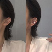 简约U字型设计耳骨夹异型天然珍珠耳环女韩国个姓无耳洞耳夹R156