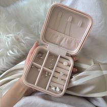 ins风饰品收纳盒项链耳环收纳盒简约精致小便携耳饰戒指首饰盒