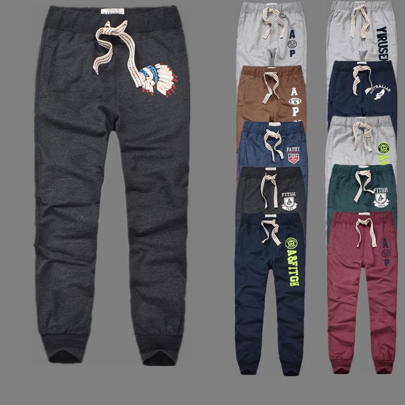20新款af卫裤男薄款系带青年休闲长裤纯棉男士运动收口束脚裤学生
