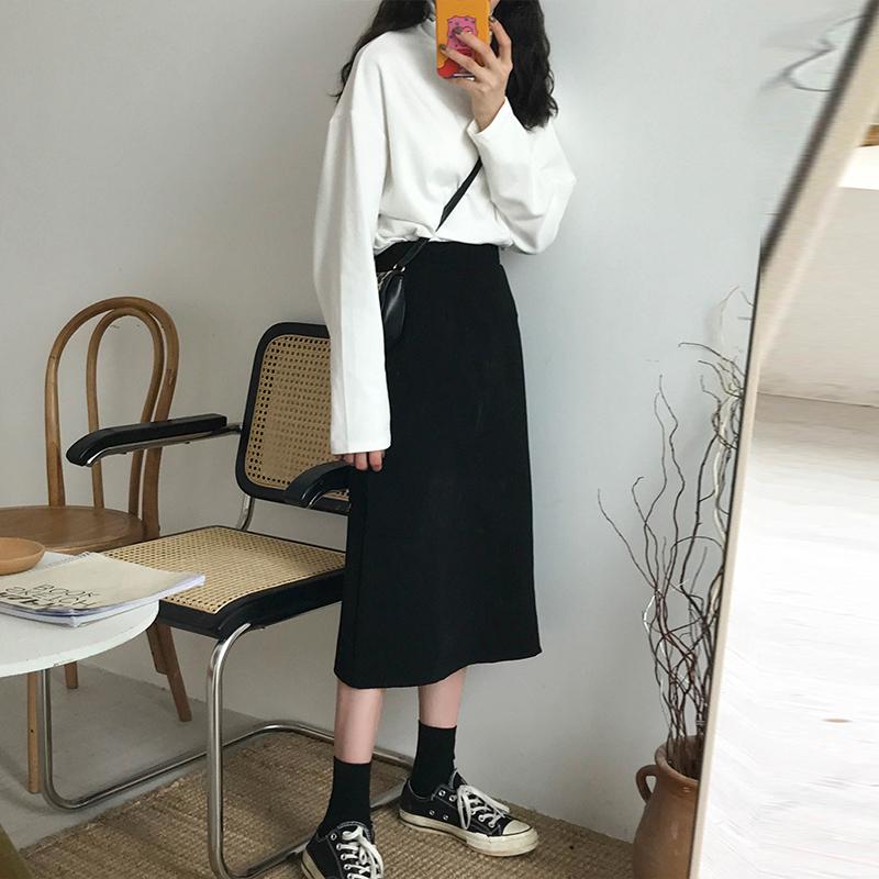 2019秋季新款韩版显瘦长裙包臀裙
