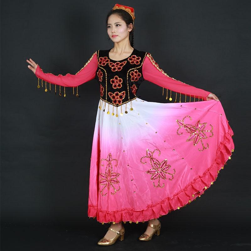 新款成人舞蹈演出服装新疆民族特色表演服女维吾尔族舞蹈表演服饰