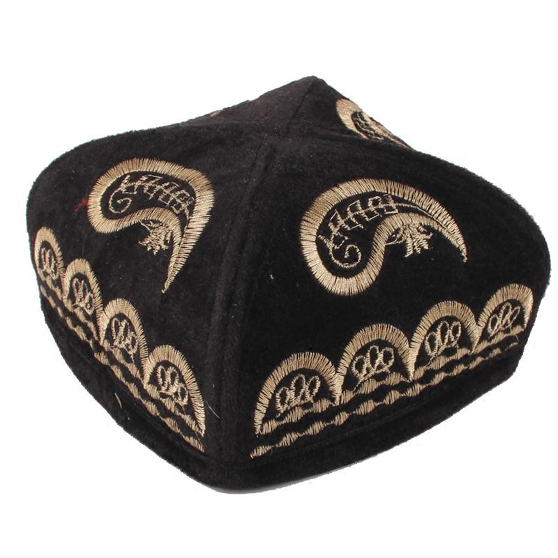 新疆特色男士帽舞蹈头饰民族服饰舞蹈道具新疆纯手工刺绣帽子促销