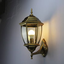 户外壁灯防水庭院灯欧式室外别墅外墙灯阳台过道走廊美式复古壁灯