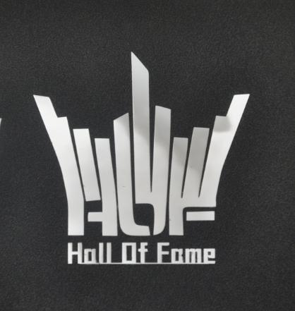 影驰 名人堂Hall Of Fame金属贴动漫手机笔记本电脑机箱金属贴纸