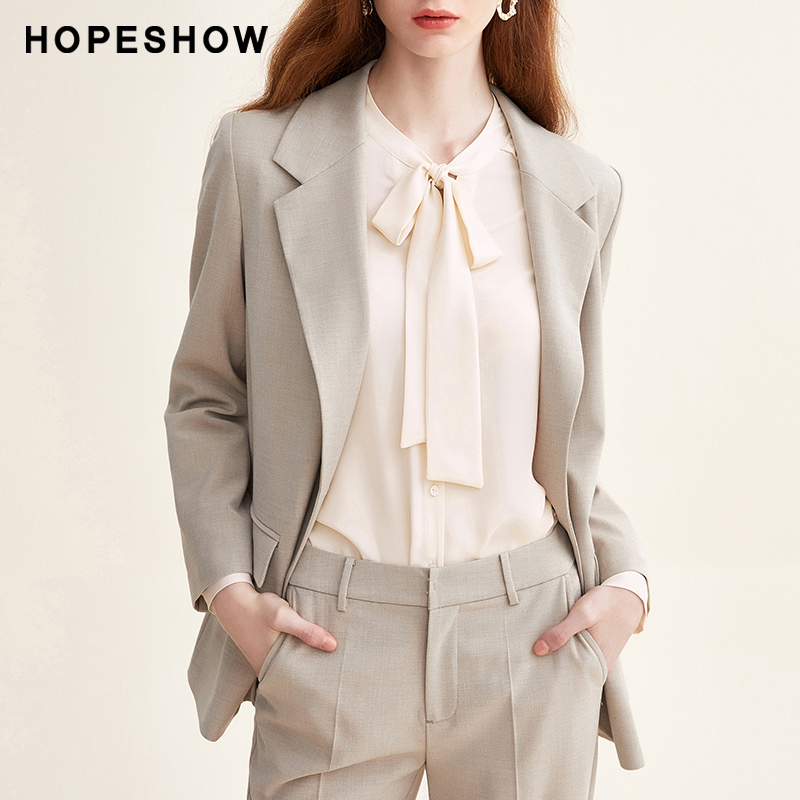 Red sleeve loose suit women's 2020 spring and autumn new fashion British French coat thin chic small suit