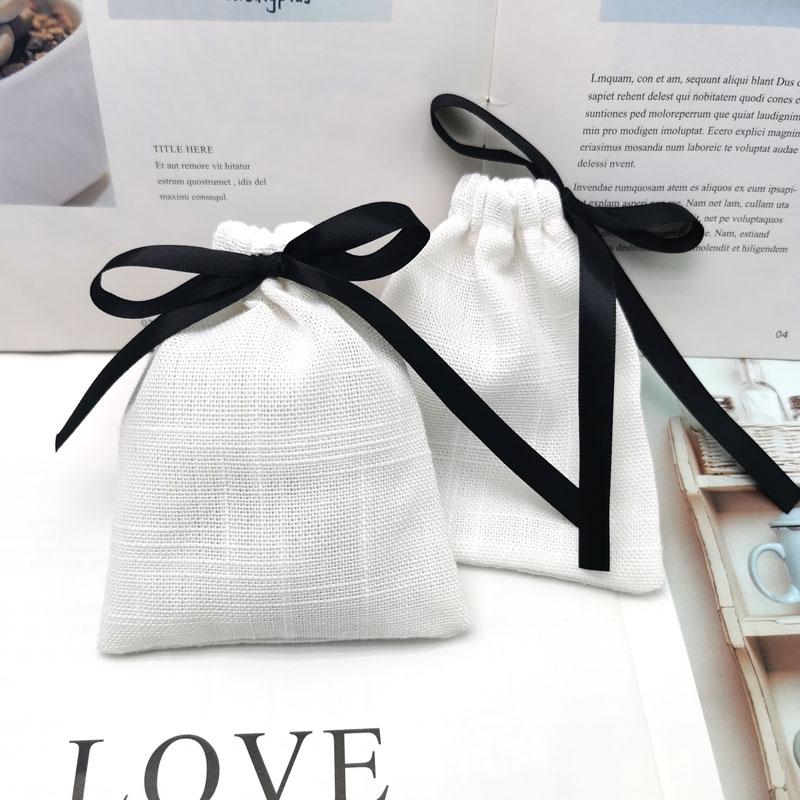 新品棉麻袋香囊小布袋子抽绳束口收纳袋首饰珠宝包装礼袋驱蚊香包