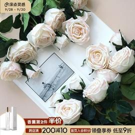 ladylike单支手感保湿玫瑰仿真花欧式花束假花装饰花客厅插花摆件