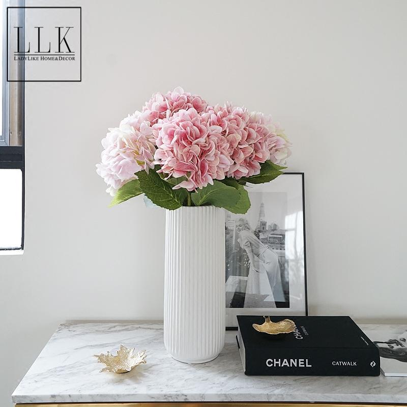简约美式绣球仿真花装饰花假花套装组合客厅桌面摆设花艺ladylike