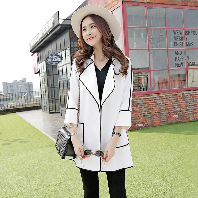 Не центр домой ветровка девочки длинная модель 2017 зимний осенний новинка корейский свободный мода англия дамы случайный пальто волна