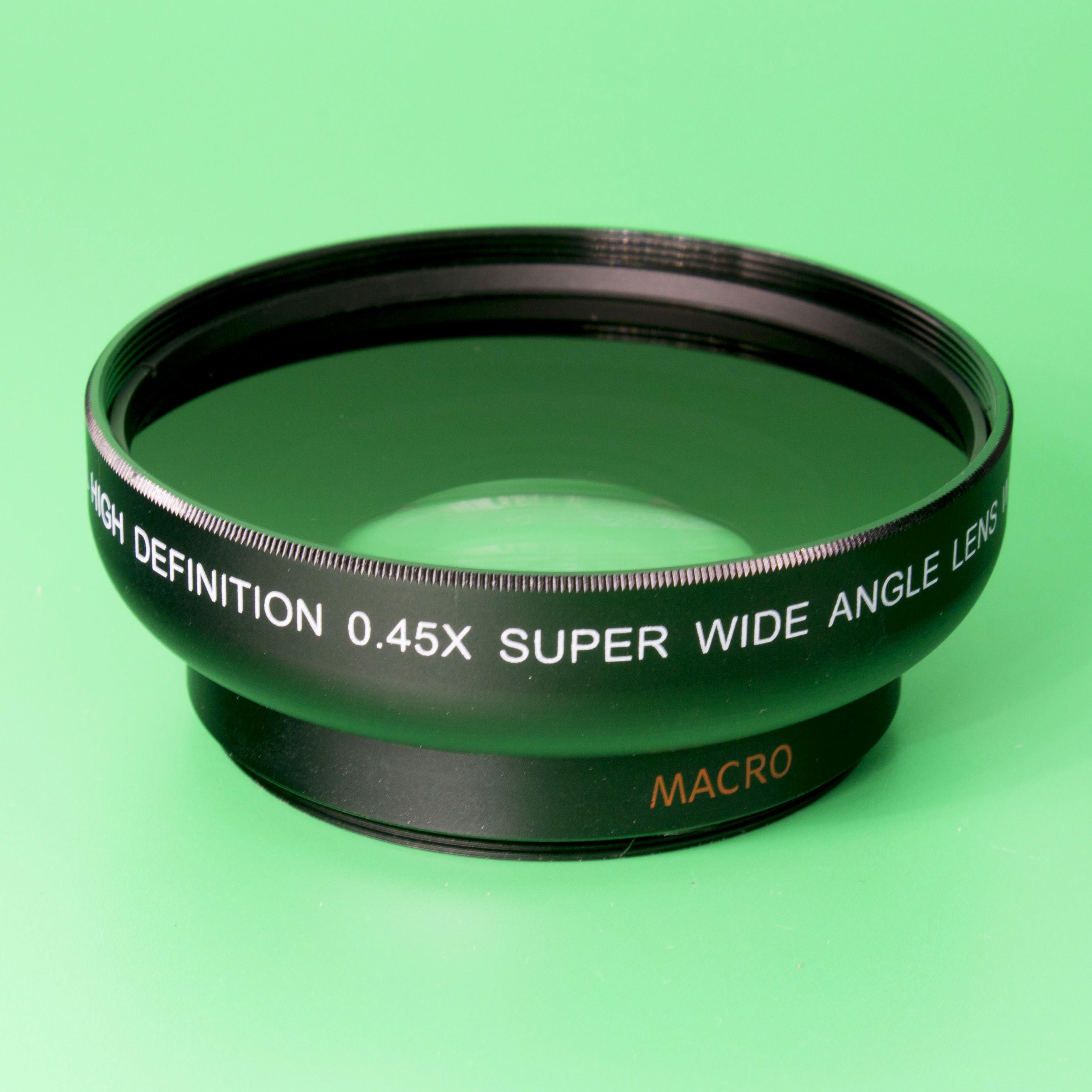 58mm 0.45X倍 附加广角镜头 松下GH4套机 12-35mm
