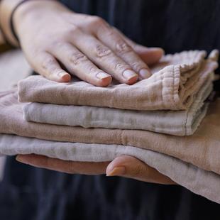 日本家用纯棉抹布多功能家务清洁布吸水不掉毛加厚挂式 擦手巾茶巾