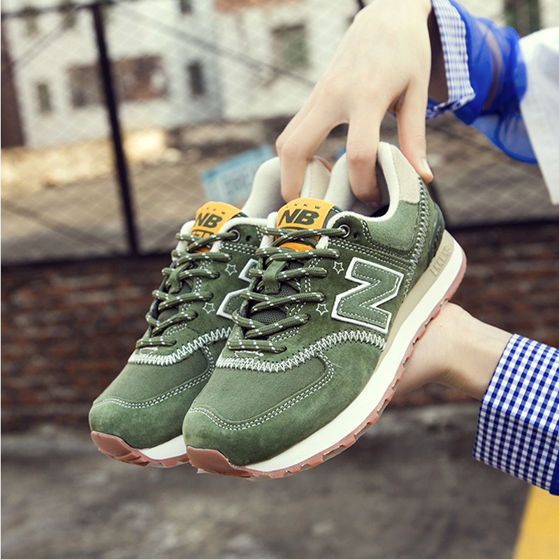 New nb574 mens winter authentic womens n-line running shoes autumn mens shoes 35