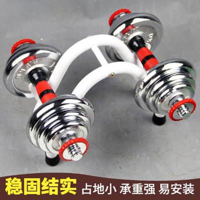 Household storage bed Yaling frame squat barbell bracket fixed dumbbell placement mat drag base equipment small shelf